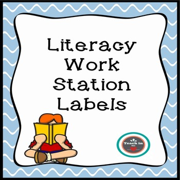 Freebie! - Literacy Center Labels for K-4