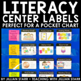 Literacy Center Labels for a Pocket Chart