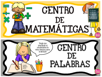 Literacy Center Labels in Spanish