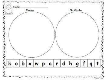 Literacy Center: Letter Sort