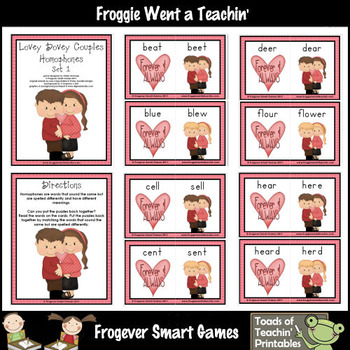 Valentine's Day Lovey  Dovey Couples Homophones