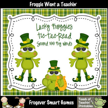 St.Patrick's Day--Lucky Froggies Tic-Tac-Read First 600 Fr
