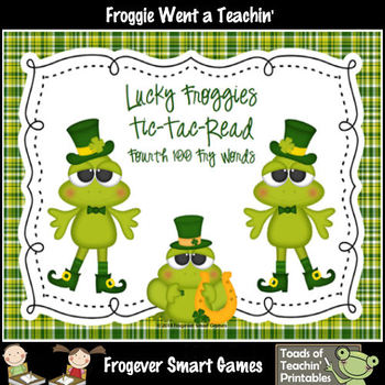 St.Patrick's Day--Lucky Froggies Tic-Tac-Read Fourth 100 F