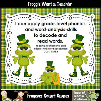 St.Patrick's Day--Lucky Froggies Tic-Tac-Read Second 300 Fry Words Bundle