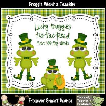 St.Patrick's Day--Lucky Froggies Tic-Tac-Read First 300 Fry Words Bundle