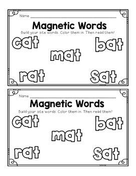 Literacy Center- Magnetic Letter Fun (PrePrimer and CVC)!
