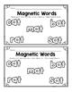 Literacy Center- Magnetic Letter Fun (PrePrimer and CVC)!