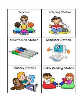 Literacy Center Management Schedule Cards