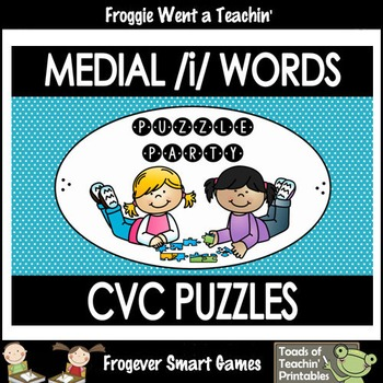 """CVC Word Puzzles-Medial /i/ Words """"Puzzle Party"""""""