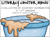 Literacy Center Menu: A collection of everyday literacy centers