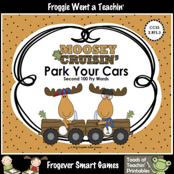 Literacy Center--Moosey Crusin' Park Your Cars (Second 100 Fry Words)