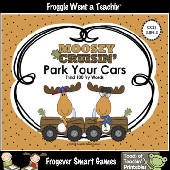 Literacy Center--Moosey Crusin' Park Your Cars (Third 100 Fry Words)