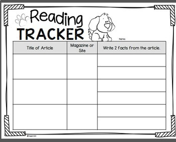 Text Features Reading Response - Listening Center, Magazines, Non- Fiction
