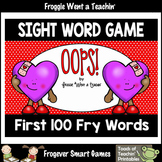 Valentine's Day-OOPS! Sight Word Game First 100 Fry Words