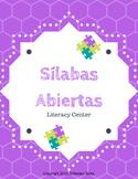 Literacy Center - Open Syllables in Spanish/Sílabas Abiert