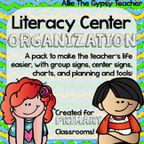 Literacy Center Organization for the Primary Classroom!!!