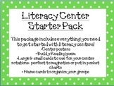 Literacy Center Pack- Polka Dots