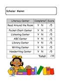 Literacy Center Packet Cover Sheet