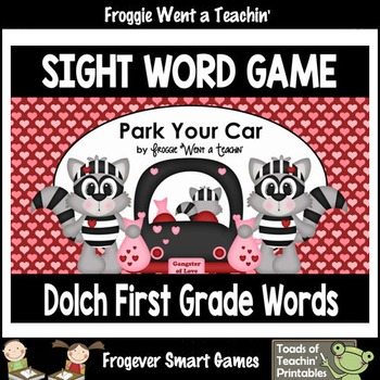 Valentine's Day--Park Your Car Sight Word Game First Grade