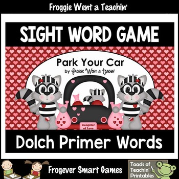 Valentine's Day--Park Your Car Sight Word Game Primer Dolch Words