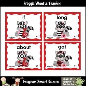 Valentine's Day--Park Your Car Sight Word Game Third Grade Dolch Words