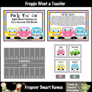 Fry Sight Words-- Park Your Car Sight Word Parking Lot (Se