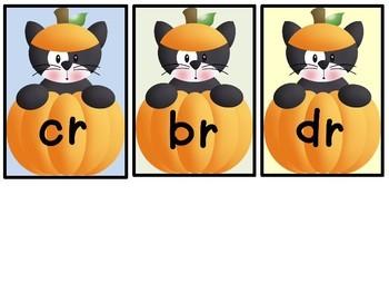 Literacy Center Phonics Activity Blends Cr, Br, Dr  Halloween Theme