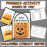 Literacy Center Phonics Activity Sounds of OW Halloween Theme