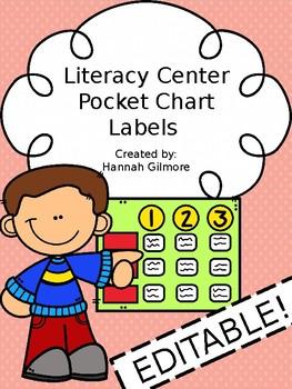 Literacy Center Pocket Chart Labels