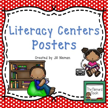 Literacy Center Posters-Editable