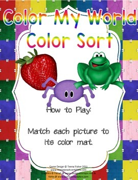 Color My World Color Sort Literacy Center Preschool Toddler