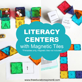 Literacy Center Printables with Magnetic Tiles