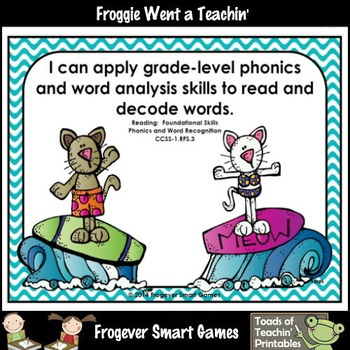 Literacy Center--Purrfect Waves Dolch Primer Words Bump Games