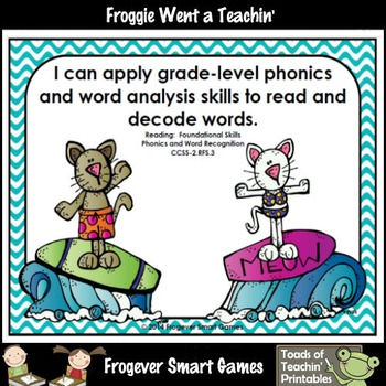 Literacy Center--Purrfect Waves Dolch Second Grade Words Bump Games