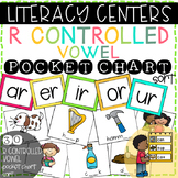 Literacy Center: R Controlled Vowel Picture & Word Pocket Chart Sort