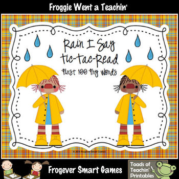 Literacy Center--Rain I Say First 100 Fry Words