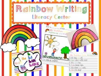 Literacy Center Rainbow Writing
