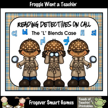 """Literacy Center--Reading Detectives on Call The """"L"""" Blends Case"""