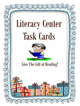 Literacy Center Reading Task Cards Set-Listening, Vocabulary, Fiction &  More!