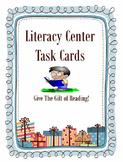 Literacy Center Reading Task Cards Set-Listening, Vocabula