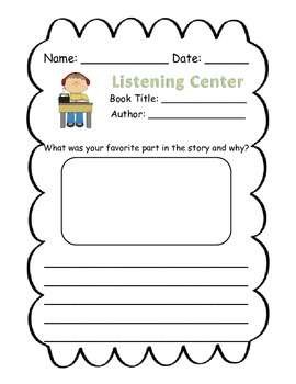 Literacy Center Record Sheets