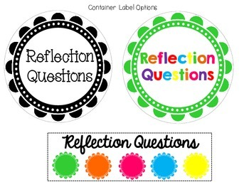Literacy Center Reflection Questions: Bloom's Taxonomy