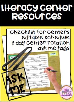 Literacy Center Resources