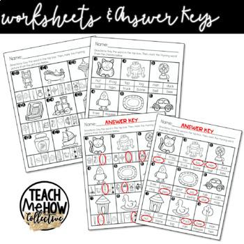 Literacy Center: Rhyming Clip Cards, Clipcards, Prek, Kindergarten