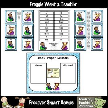 Literacy Center-Rock Paper Scissors Fry Fluency Phrases Fry Words Level 1 List 1