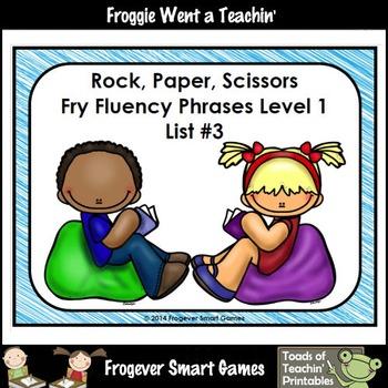 Literacy Center-Rock Paper Scissors Fry Fluency Phrases Fr