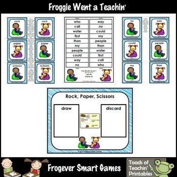 Fluency Phrases--Rock Paper Scissors Fry Phrases /Fry Words Level 1 List 4