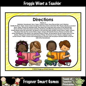 Literacy Center-Rock Paper Scissors Fry Fluency Phrases Fry Words Level 2 List 5