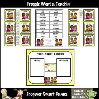 Literacy Center-Rock Paper Scissors Fry Fluency Phrases Fry Words Level 2 List 8