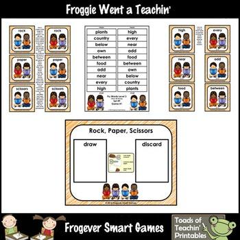 Literacy Center-Rock Paper Scissors Fry Fluency Phrases Fry Words Level 3 List 9